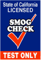 We are a California licensed Smog Test Only Station!